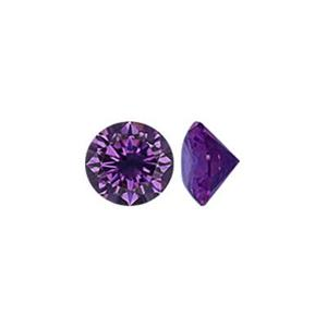 CZ40AM: 4mm AAA Amethyst Round CZ, 2.6mm Depth