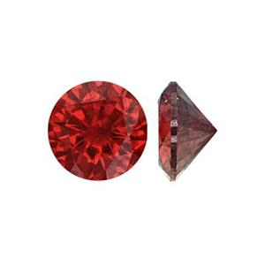 CZ60RU: 6mm AAA Ruby Round CZ, 3.6mm Depth