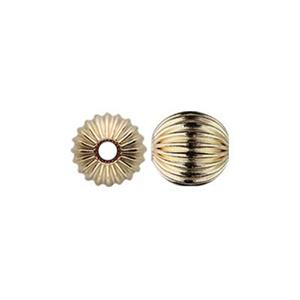 GC4: Gold-Filled 4mm Corrugated Round Bead