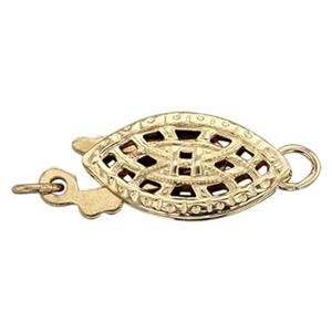 GF001: Gold-filled Filigree Safety Clasp