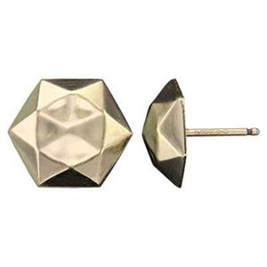 GF113R: 14/20 Gold-filled Faceted Dome Stud Post Earring