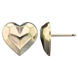GF114R: 14/20 GF Faceted Heart Stud Post Earring