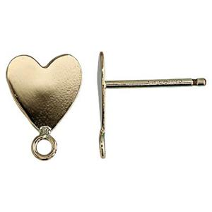 GF11R: 14/20 GF Flat Heart Post Earring