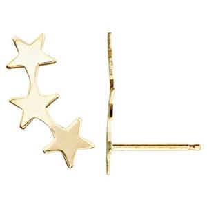 GF164R: Gold Filled Star Climber Post Earring