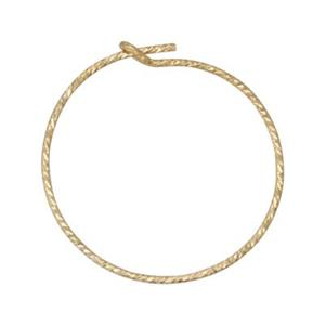 GF1804: Gold-Filled 20mm Sparkle Wire Hoop Earring