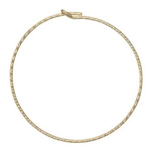 GF1808: Gold-Filled 30mm Sparkle Wire Hoop Earring
