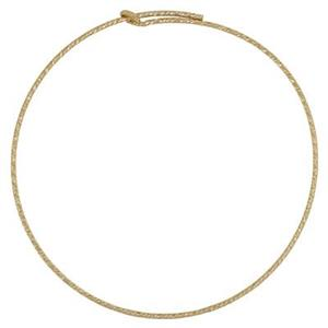 GF1810: Gold-Filled 45mm Sparkle Wire Hoop Earring