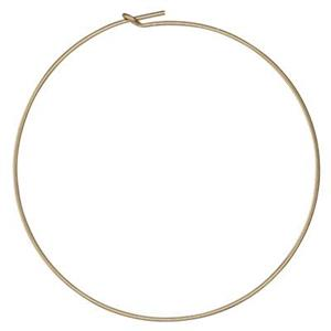 GF1910: 45mm Gold Filled Wire Beading Hoop Earrings