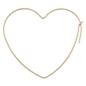 GF1912SS: 14/20 Gold Filled Sparkle Heart Hoop