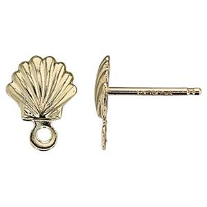 GF2176R: 14/20 GF 6.3x8.5mm Shell Post Earring, .7mm Post Thickness, 1.1mm Closed Ring ID. Clutches Not Inclu