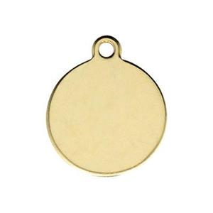 GF221: Gold-Filled Round Circle Tag Blank