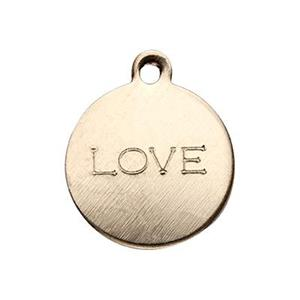 GF2211: Gold-Filled LOVE Circle Charm