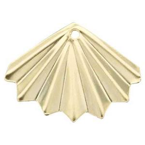GF224: 14/20 GF Pointed Folded Fan Earring Jacket