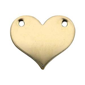 GF2582: Gold-Filled Heart Blank Link