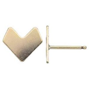 GF26R: 14/20 GF Chevron Stud Post Earring