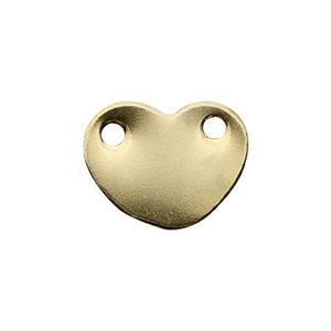 GF3162: Gold-Filled Heart Blank Link
