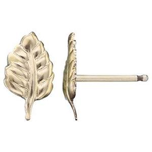 GF37R: 14/20 GF Leaf Stud Post Earring