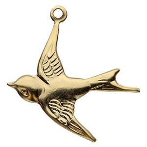 GF482: Gold-filled Swallow Bird Charm