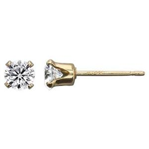 GF5144CZ: 14/20 Gold-filled 4mm CZ Stud Post Earring