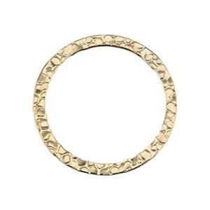 GF521: Gold-Filled Flat Textured Wire Circle Link