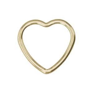GF542: 14/20 Gold-filled Wire Heart Link