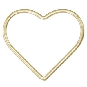GF543: 14/20 GF Large Wire Heart Link