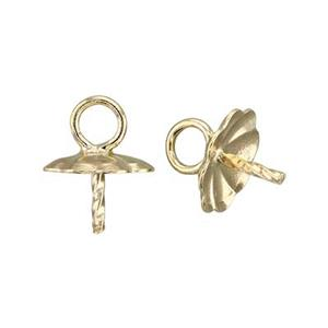 GF5894: 14/20 Gold-Filled Flower Cup Drop Twisted Peg Setting