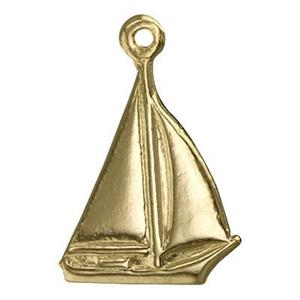 GF639: 14/20 GF Small Sailboat Charm