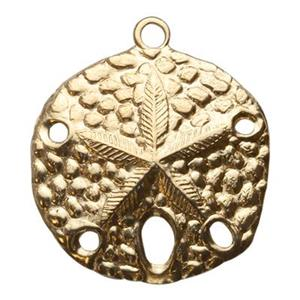 GF732: Gold-Filled Large Sand Dollar Pendant
