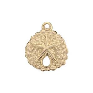 GF760: 14/20 Gold-filled Sand Dollar Charm