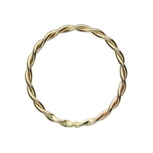 GF782: Gold-Filled Twisted Closed Jump Ring