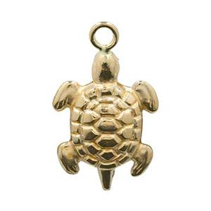 GF784: Gold-Filled Turtle Charm