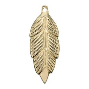 GF801: 14/20 Gold-filled Feather Charm