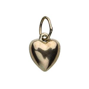 GF808: 14/20 Gold-filled 7mm Puff Heart Charm