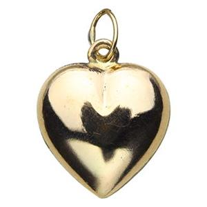 GF809: Gold-Filled 13mm Puff Heart Charm