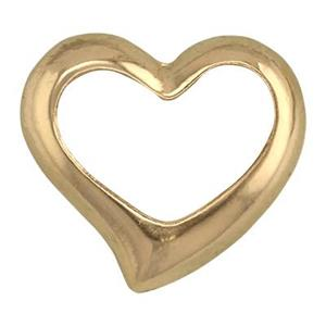 GF833: 14/20 GF Floating Heart Charm