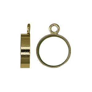 GF872: Gold-Filled Open Bezel Charm Setting