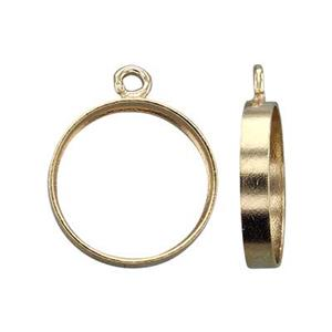 GF873: Gold Filled Tube Bezel with Seat Charm Setting