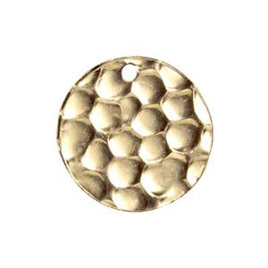 GF9103: Gold-Filled Textured Circle Charm