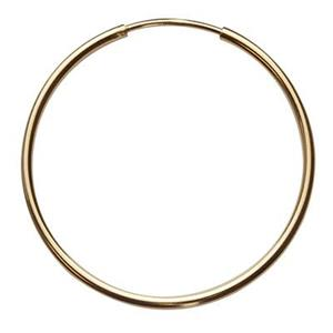 GF959: Gold-Filled 27mm Endless Hoop Earring