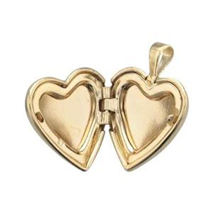GFP250: Matte Gold-filled Heart Locket