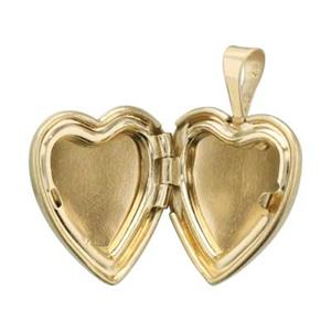 GFP300: Gold-Filled Matte Heart Locket