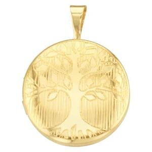 GFP527: Round Tree of Life Locket
