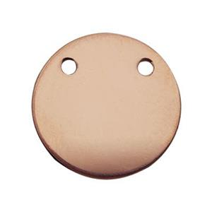 GFR1092: Rose Gold-Filled 11mm Circle Blank Pendant Link