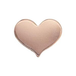 GFR256TH: 14/20 Rose GF Heart Blank (No Hole)