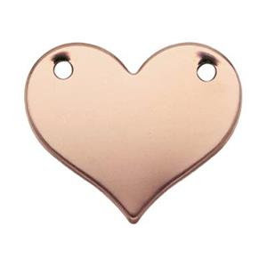 GFR2582: Rose Gold-Filled Heart Blank Link