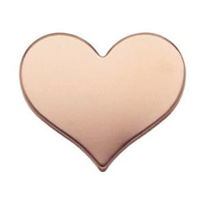 GFR258TH: 14/20 Rose GF Heart Blank (No Hole)