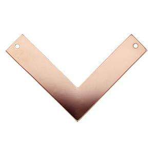 GFR2614: Rose Gold-Filled Chevron V-Link Pendant