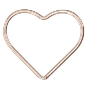 GFR543: 14/20 Rose GF Large Wire Heart Link