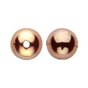 GFR60: Rose Gold-filled 6mm Seamless Round Bead
